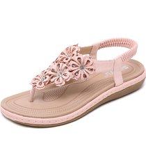 sandalias de mujer flor pisos
