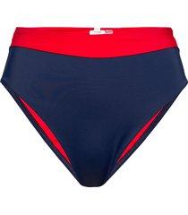 cheeky high waist bikini bikinitrosa blå tommy hilfiger