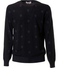 alexander mcqueen skull detail sweater