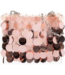 paco rabanne hanging sequin shoulder bag - pink