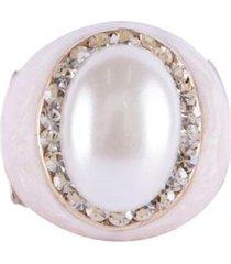 anel armazem rr bijoux resinado perolado - feminino