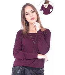 blusa up side wear decote vinho