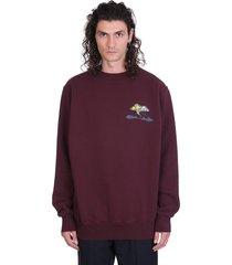 marni sweatshirt in bordeaux cotton