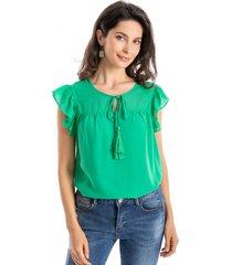 blusa básica lazo verde nicopoly