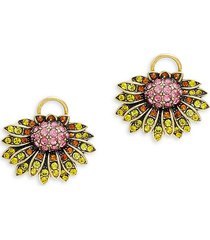 heidi daus women's goldtone & multicolored crystal butterfly & floral earrings