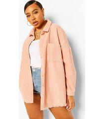 plus oversized corduroy blouse, blush