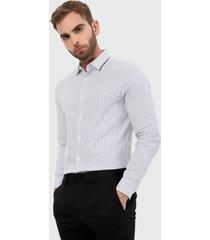 camisa blanco-azul calvin klein
