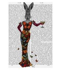 "fab funky rabbit butterfly dress canvas art - 15.5"" x 21"""