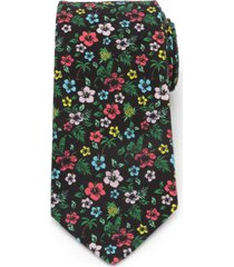 men's cufflinks, inc. tropical cotton tie, size regular - black