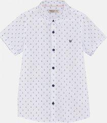camisa blanca wanama boys & girls ancla
