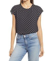 women's halogen cap sleeve blouse, size x-large - black