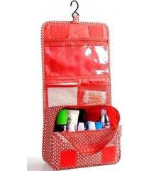 neceser cosmetiquero cartera maleta viaje pequeña rombo rojo todobags
