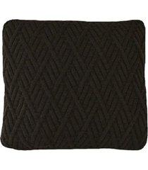 capa almofada tricot 40x40cm / 45x45cm c/zãper sofa trico cod 1025 caf㉠- marrom - feminino - dafiti