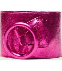 motivi cintura alta effetto metallico donna rosa