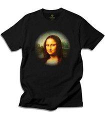camiseta arte e cultura cool tees da vinci mona lisa - masculino