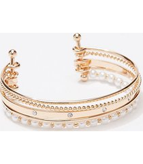 loft pearlized pave cuff bracelet
