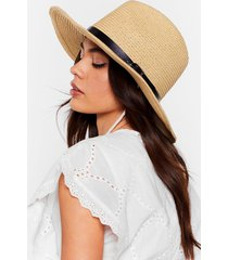 womens hats off to you straw panama hat - cream