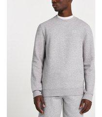 river island mens grey slim fit sweatshirt