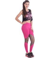legging vip lingerie tule - rosa