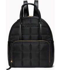 tommy hilfiger women's tommy quilted solid backpack black -