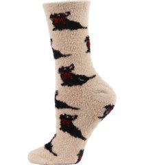 winter dog cosy women's crew socks