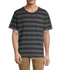 madewell men's striped crewneck t-shirt - black - size l