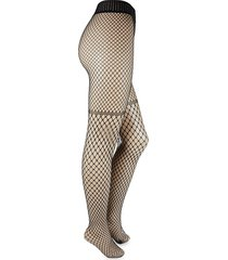 wolford women's control top fishnet tights - black - size s
