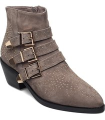 boot 5,5 cm shoes boots ankle boots ankle boot - heel grå sofie schnoor