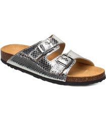 biabetricia buckle sandal shoes summer shoes flat sandals silver bianco