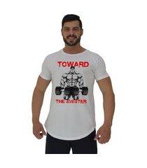 camiseta longline alto conceito toward the sinister branco