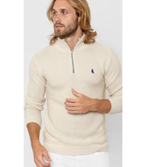 sweater natural polo label