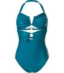 duskii océane ruched waist swimsuit - green