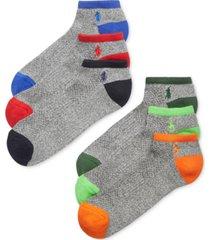 polo ralph lauren men's athletic celebrity sport socks 6-pack