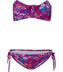 bikini a fascia (set 2 pezzi) (viola) - rainbow