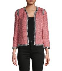 bibi knit tweed jacket