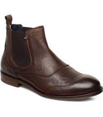 dress casual leather chelsea shoes chelsea boots brun tommy hilfiger