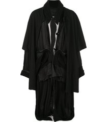 draped jacket black