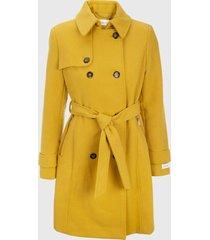 abrigo elite wool amarillo calvin klein