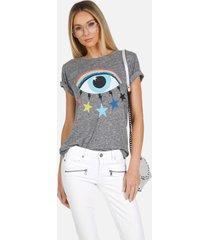 capri x cosmic rainbow eye - xl heather grey
