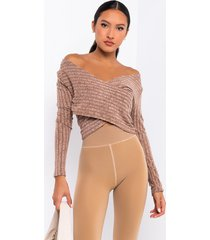 akira switch it up long sleeve criss cross front crop top