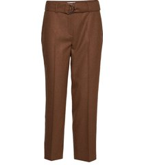 crop leisure trouser pantalon met rechte pijpen bruin gerry weber edition