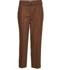 crop leisure trouser pantalon met rechte pijpen bruin gerry weber edition