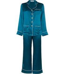 olivia von halle conjunto de pijama 2 peças - azul