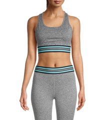 splendid women's racerback sports bra - heather charcoal - size xs