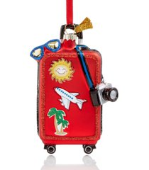 holiday lane at the beach travel luggage ornament created for macy's