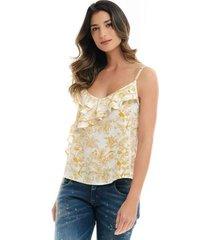 blusa para mujer en viscosa multicolor color multicolor talla xs