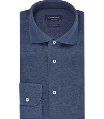profuomo originale the knitted shirt indigo pp0h0a045 blauw