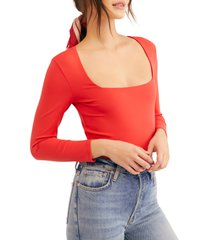 women's free people truth or square bodysuit