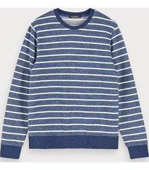 scotch & soda gemêleerde sweater met ronde hals
