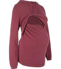 pullover prémaman e per l'allattamento con cappuccio (rosso) - bpc bonprix collection